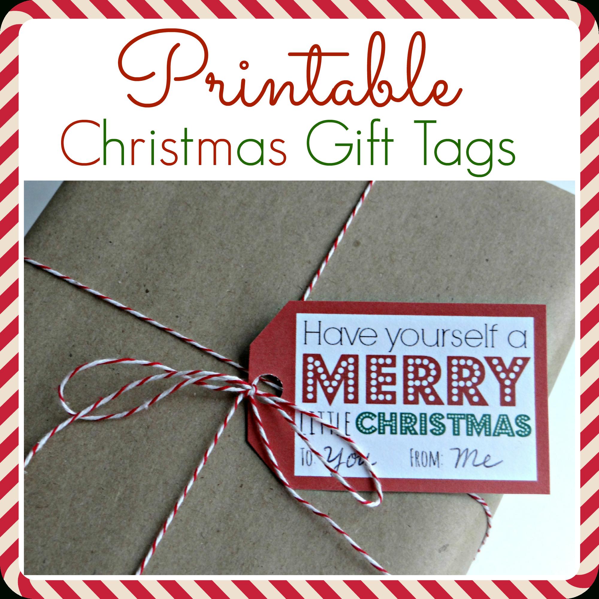 Printable Christmas Gift Tags - Free Printable Gift Tags Personalized