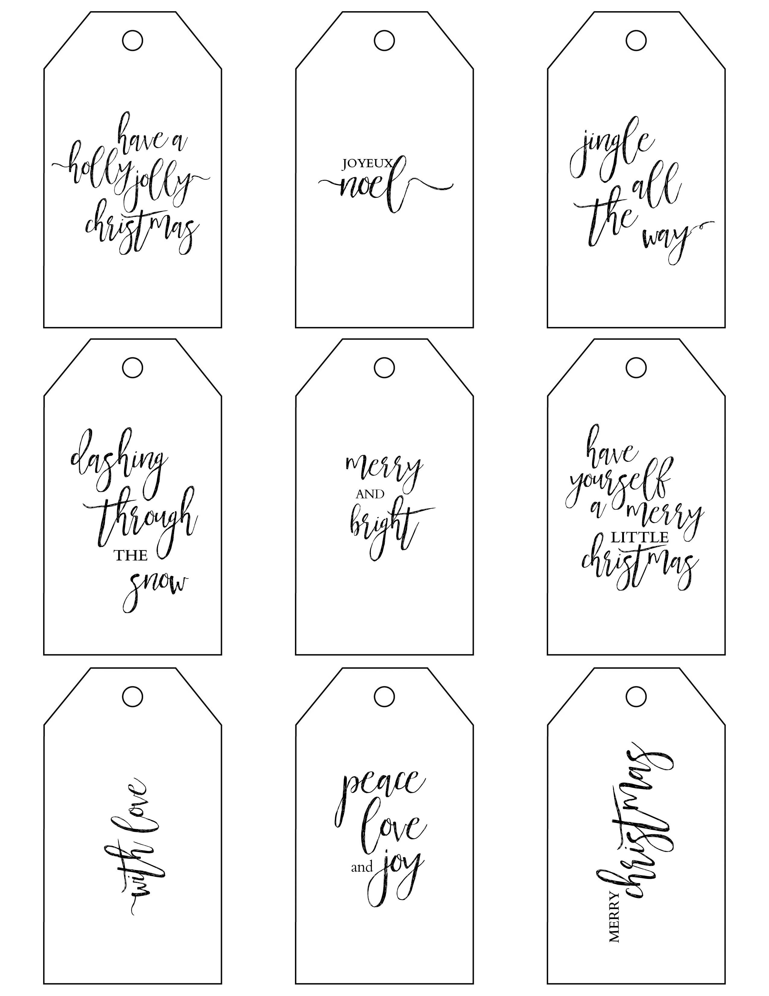 Printable Christmas Gift Tags Make Holiday Wrapping Simple - Free Printable Gift Tags
