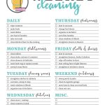 Printable Cleaning Checklists For Daily, Weekly And Monthly Cleaning   Free Printable House Cleaning Checklist
