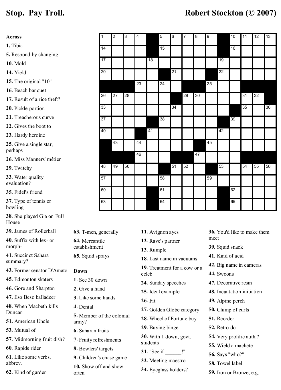 Printable Crosswords About Friendship Trials Ireland - Free Easy Printable Crossword Puzzles For Kids