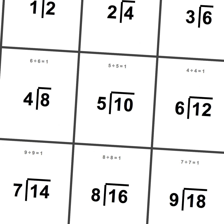 Printable Division Flashcards! | Math Worksheets | Printable Math - Free Printable Division Flash Cards