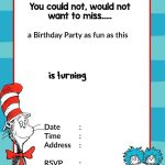 Printable Dr. Seuss Birthday | Birthday Invitation For Kids   Dr Seuss Free Printable Templates