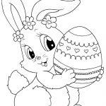 Printable Easter Colorings Free Online Blank Egg Cute | Coloring Pages   Easter Color Pages Free Printable