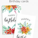 Printable Floral Birthday – Cards, Tags & Gift Box | Birthday Cards   Free Printable Birthday Cards For Mom