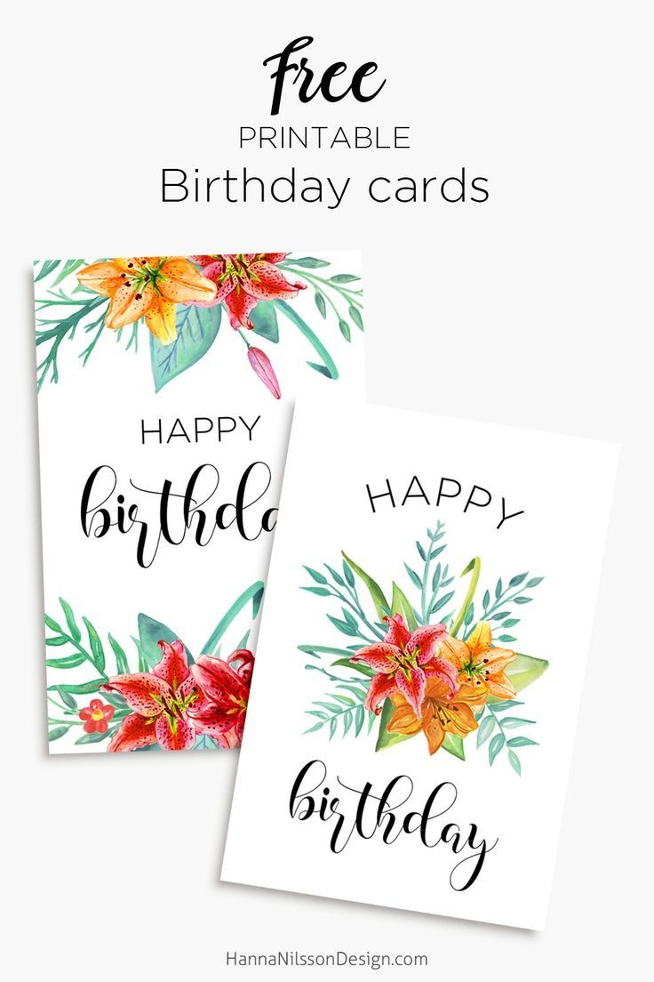 Printable Floral Birthday – Cards, Tags & Gift Box | Cards | Free - Free Printable Personalized Birthday Cards