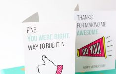 Printable Funny Mother's Day Cards | All Things Printable | Mothers – Free Printable Funny Mother's Day Cards