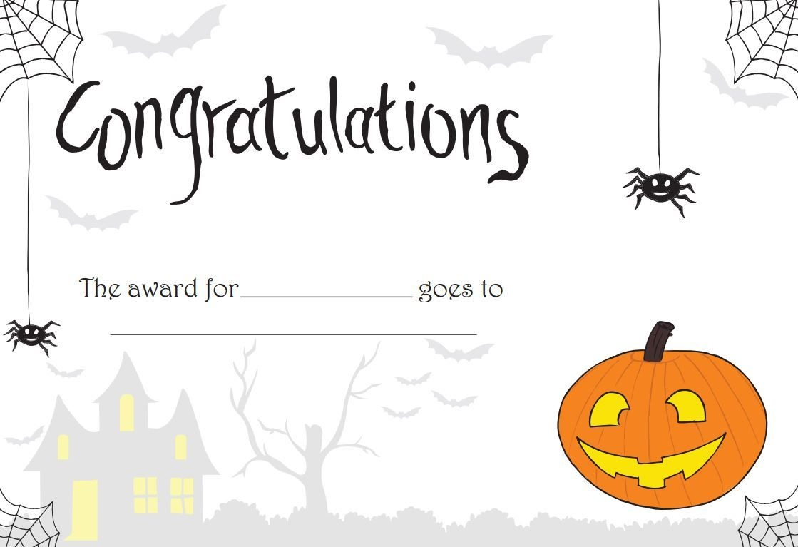 Printable Halloween Certificate - Great For Teachers Or For - Free Printable Halloween Award Certificates