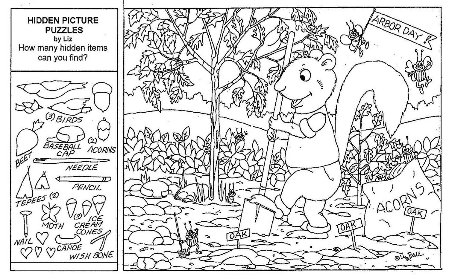 Printable Hidden Pictures Worksheets   Activity Shelter - Free Printable Hidden Picture Puzzles For Adults