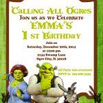 Printable Invitation Shrek Invitation Doney Inviteatomdesign   Free Printable Shrek Birthday Invitations