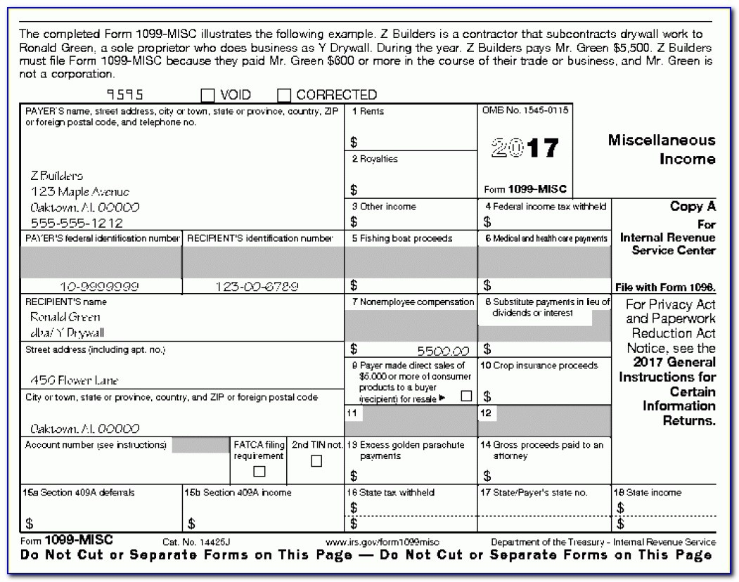 Printable Irs Form 1099 Misc 2017 - Form : Resume Examples #kwle81B29N - Free Printable 1099 Misc Forms