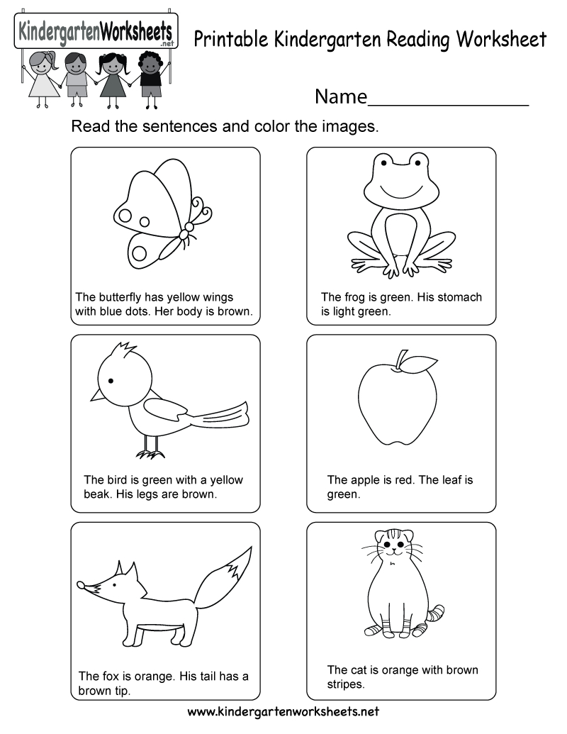 Printable Kindergarten Reading Worksheet - Free English Worksheet - Free Printable Literacy Worksheets For Adults