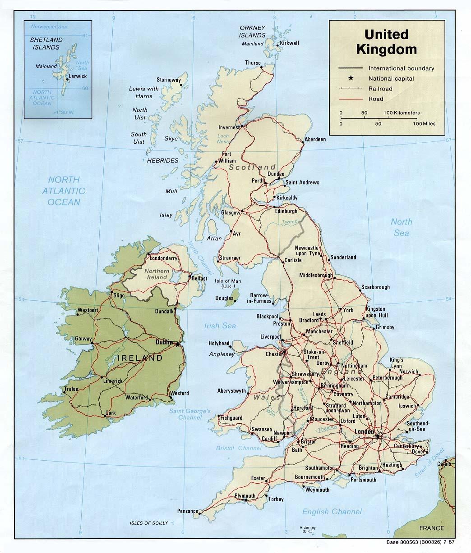 Printable Map Of England And Travel Information | Download Free - Free Printable Map Of Uk And Ireland
