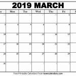 Printable March 2019 Calendar   Towncalendars   Free Printable March Activities