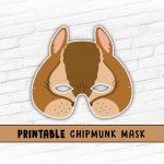 Printable Mask, Halloween, Animal Mask, Chipmunk Mask, Alvin   Free Printable Chipmunk Mask