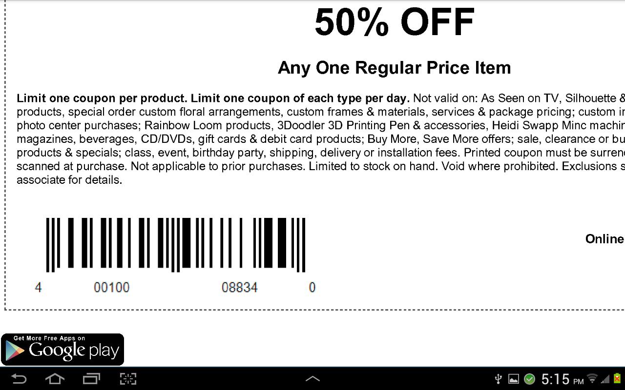 Printable Michaels Coupons | Printable Coupons Online - Free Printable Michaels Coupons
