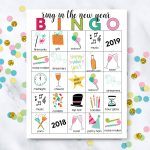 Printable New Year's Eve Bingo Sheets   Free Printable Bingo