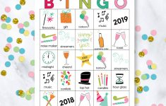 Printable New Year's Eve Bingo Sheets – Free Printable Bingo