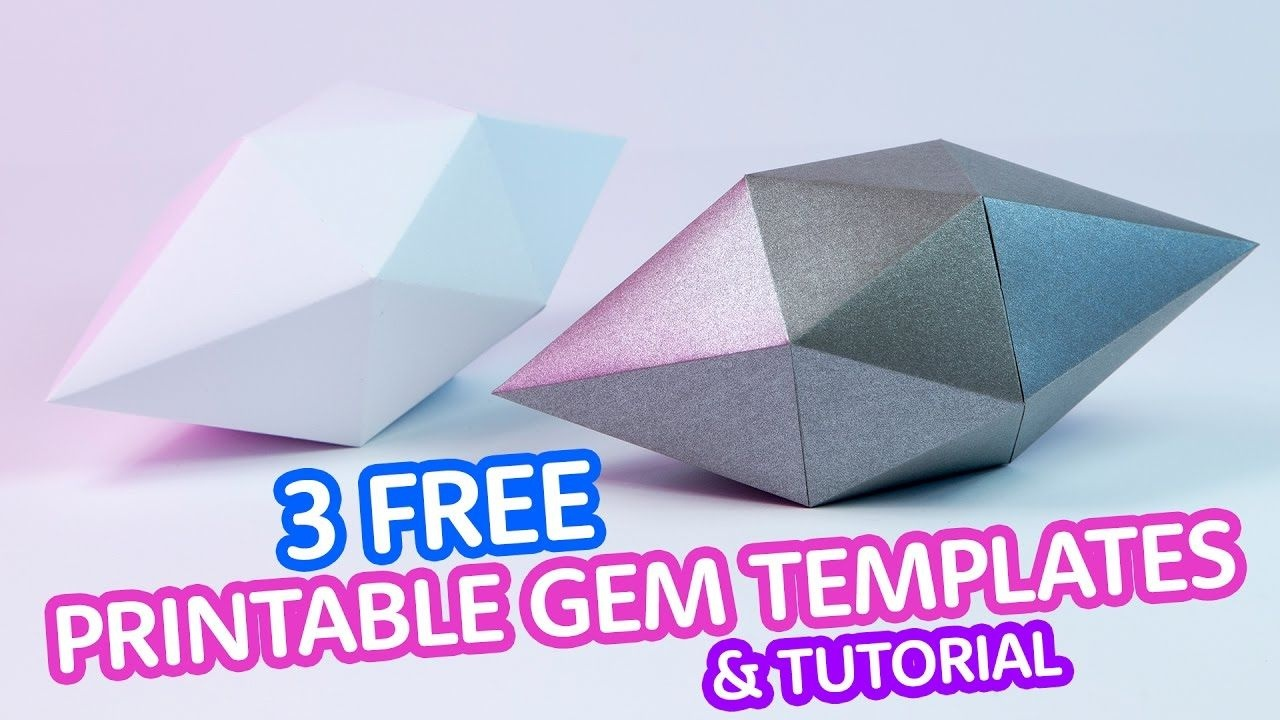 Printable Paper Gems & Crystal Templates | Diy | Origami - Printable Origami Instructions Free