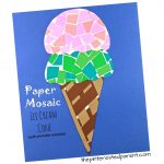Printable Paper Mosaic Ice Cream Cone – The Pinterested Parent   Ice Cream Cone Template Free Printable
