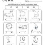 Printable Phonics Worksheet   Free Kindergarten English Worksheet   Free Printable Worksheets