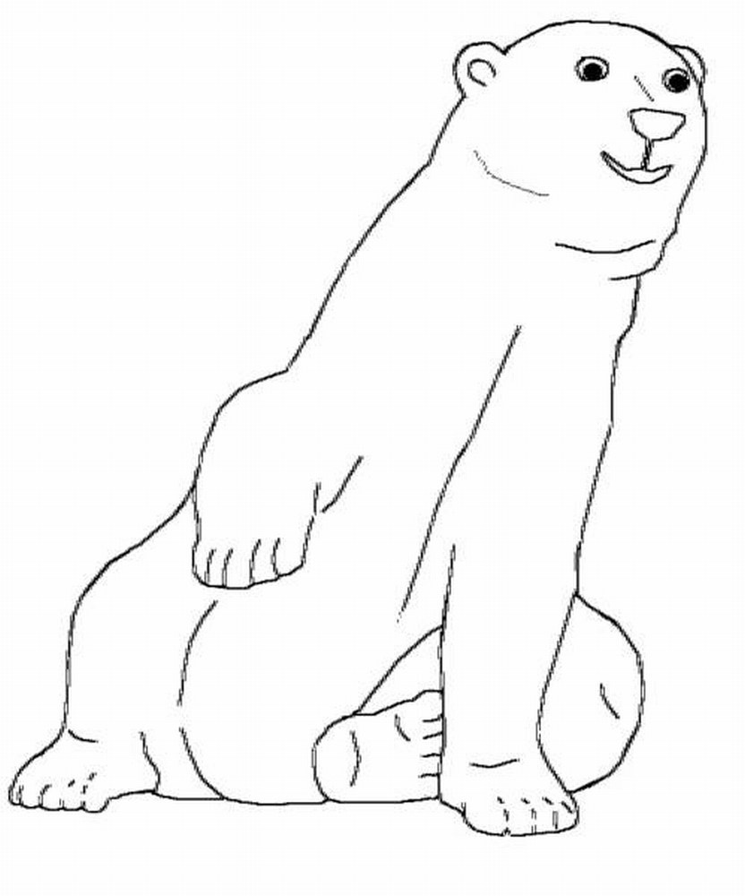 Printable Polar Bear Coloring Pages | Coloringme - Polar Bear Printable Pictures Free