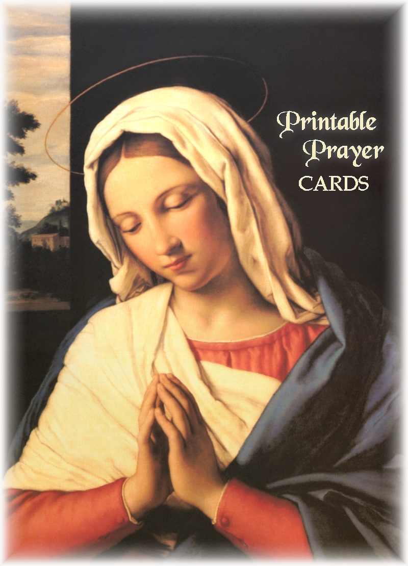 Printable Prayer Cards - Free Printable Catholic Prayer Cards