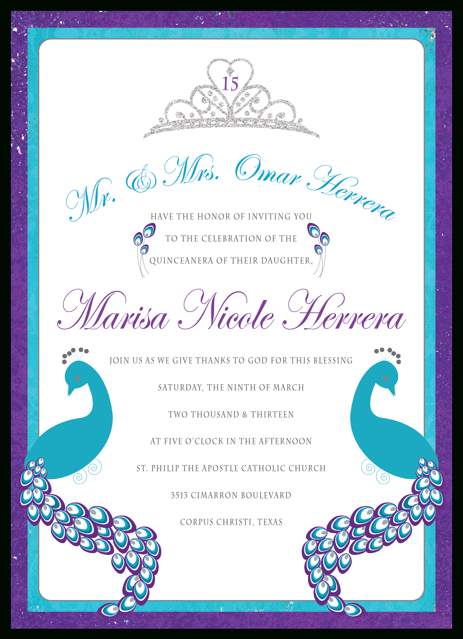 Printable Quinceanera Invitation Templates Free Free Printable - Free Printable Quinceanera Invitations