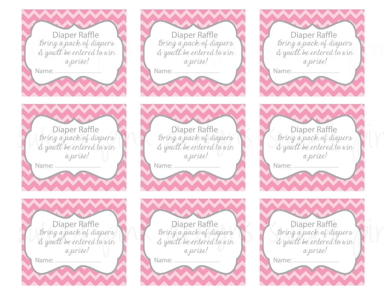 Printable Raffle Tickets Template. Diaper Raffle Ticket Grey And - Diaper Raffle Template Free Printable
