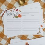 Printable Recipe Cards For Fall   Free Recipe Card Download   Free Printable Autumn Paper