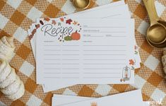 Printable Recipe Cards For Fall – Free Recipe Card Download – Free Printable Autumn Paper