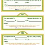 Printable Sesame Street Sign Invitation   Coolest Free Printables   Free Printable Sesame Street Sign