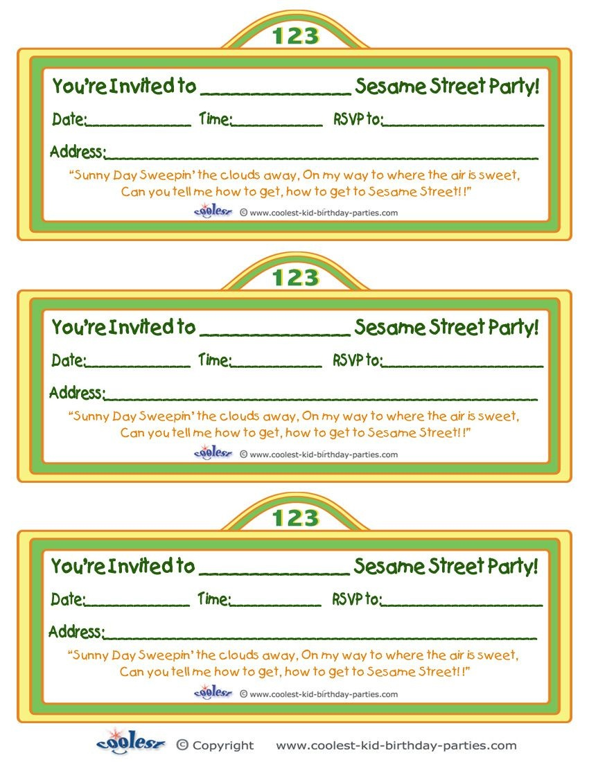 Printable Sesame Street Sign Invitation - Coolest Free Printables - Free Printable Sesame Street Sign