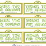 Printable Sesame Street Sign Thank You Cards   Coolest Free   Free Printable Sesame Street Sign