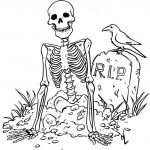Printable Skeleton Coloring Pages   Coloring Home   Free Printable Skeleton Coloring Pages
