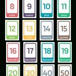 Printable Spanish Number Flash Cards   Free Printable Number Flashcards 1 30