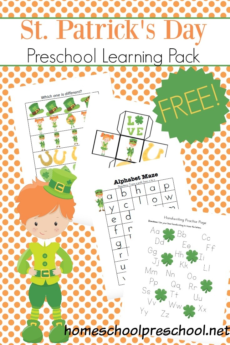 Printable St Patricks Day Activities For Preschoolers - Free Printable March Activities