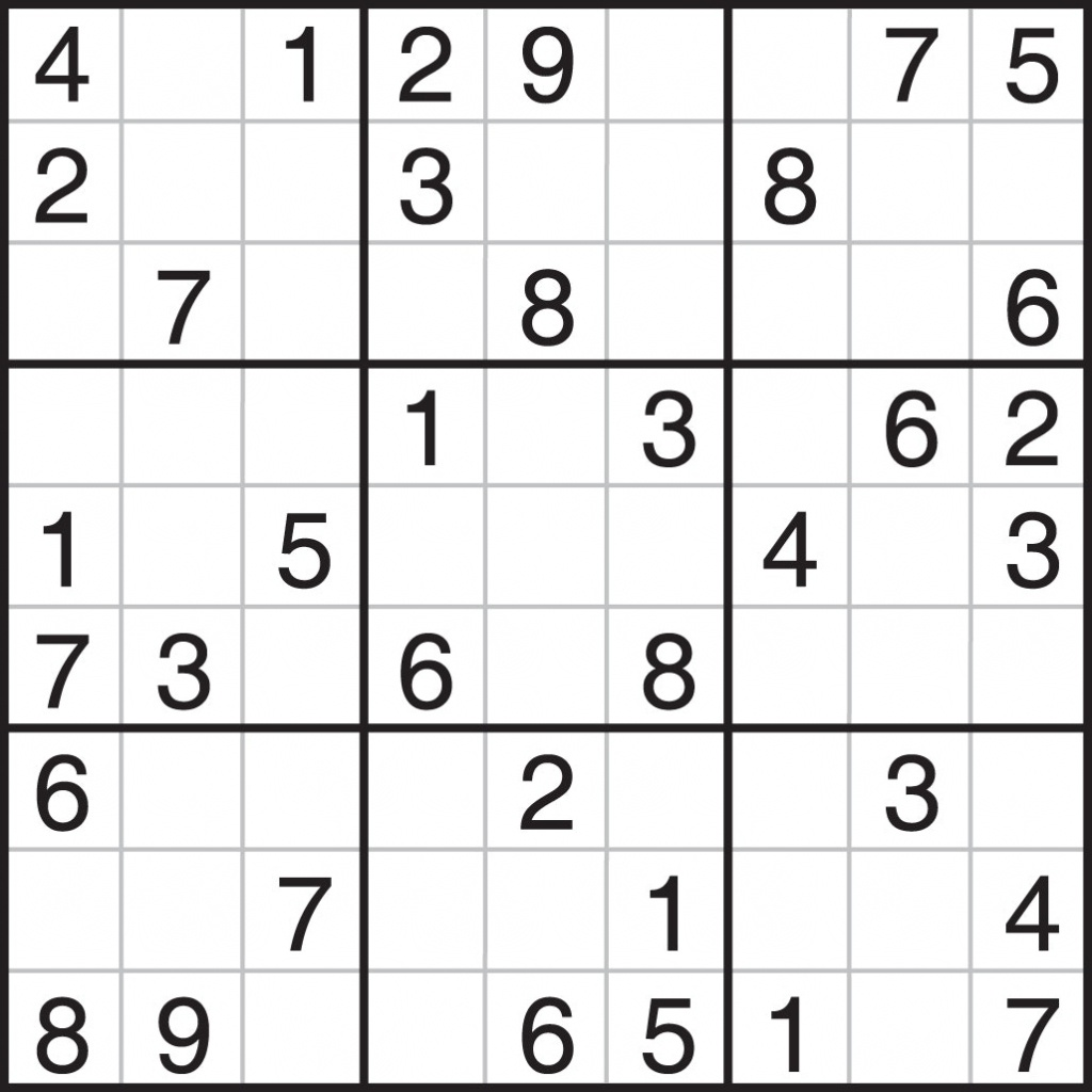 Printable Sudoku Puzzles Pdf   Printable Sudoku Free - Free Printable Sudoku Pdf