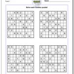 Printable Sudoku Puzzles | Room Surf   Free Printable Sudoku With Answers