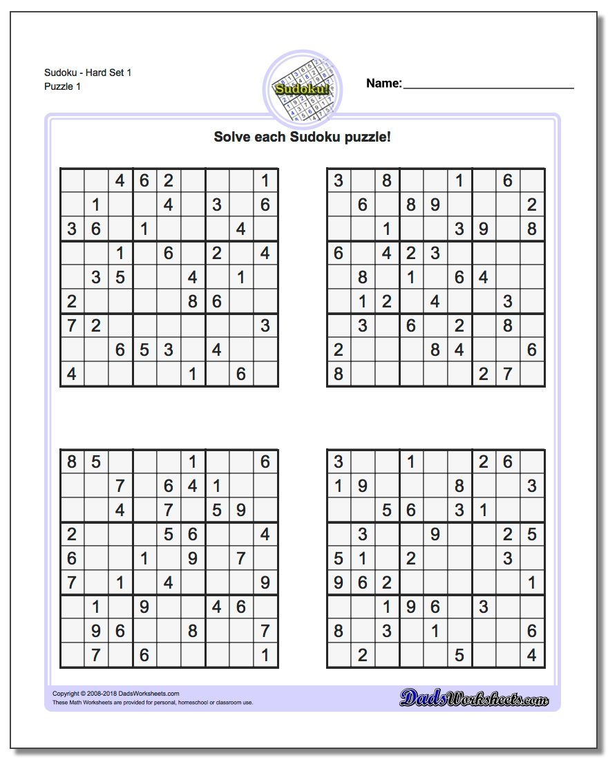 Printable Sudoku Puzzles | Room Surf - Free Printable Sudoku With Answers