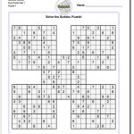 Printable Sudoku Samurai! Give These Puzzles A Try, And You'll Be   Free Printable Sudoku With Answers