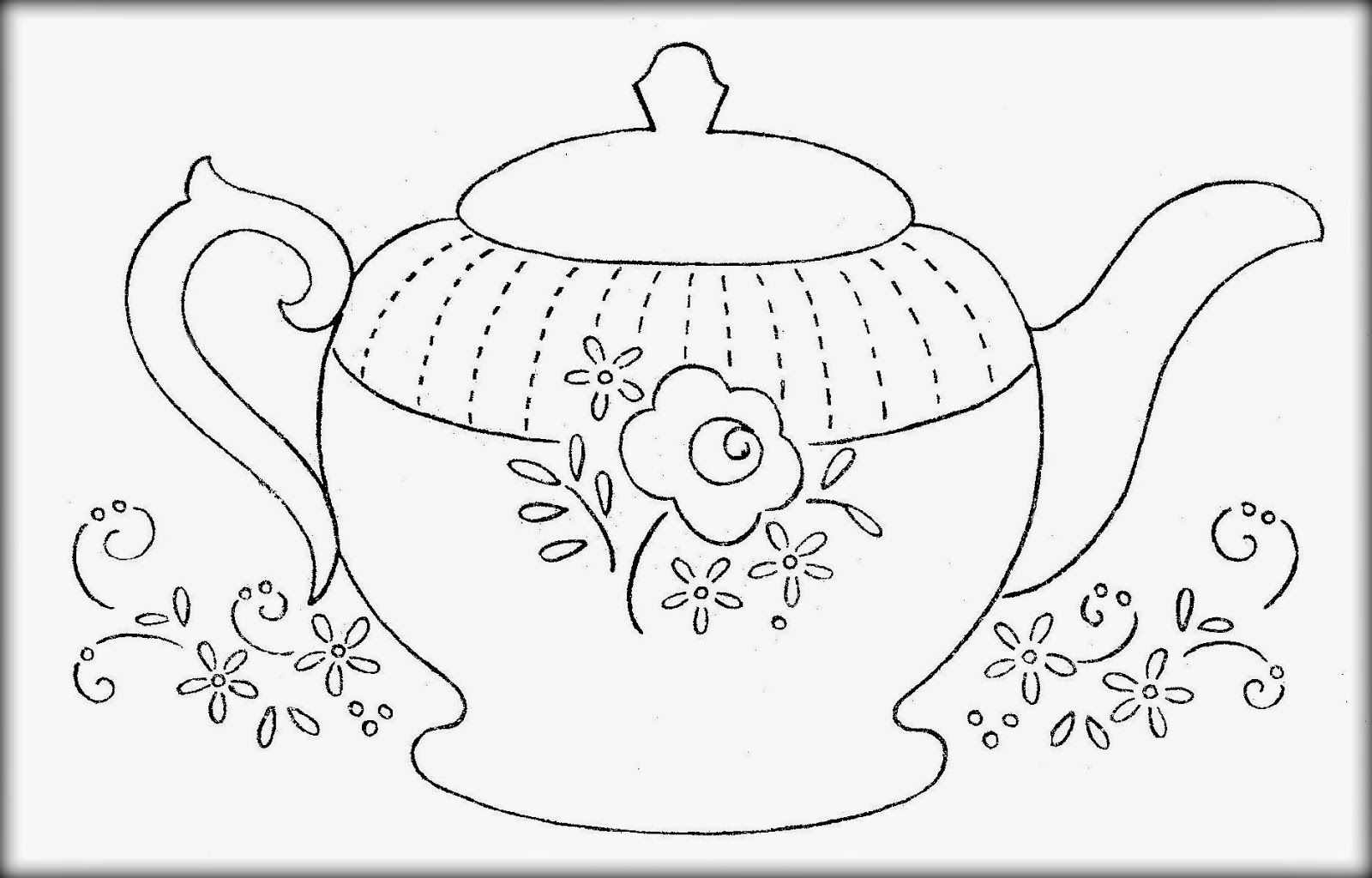 Printable Teapot Coloring Pages - Coloring Home - Free Teapot Printable
