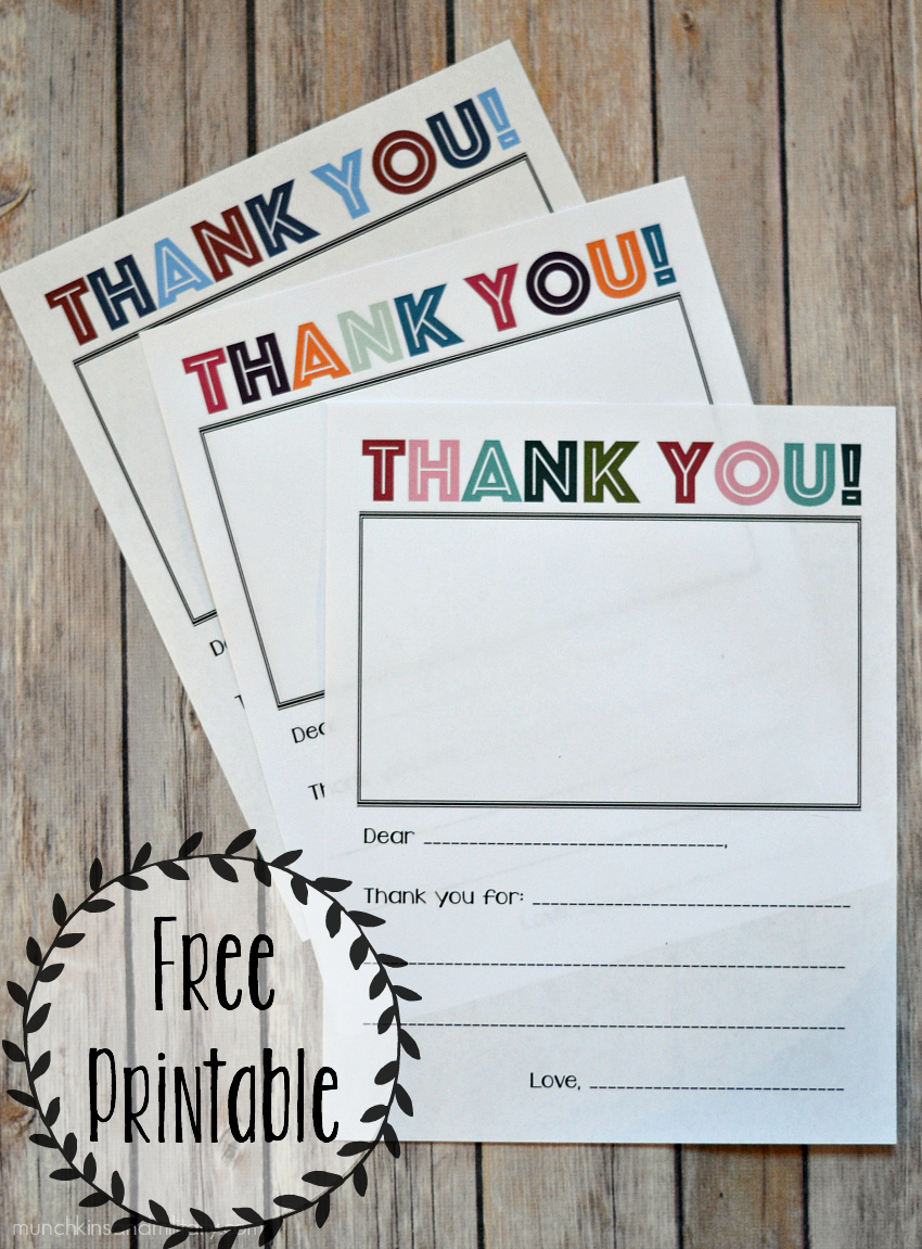 Printable Thank You Note - Three Little Ferns - Family Lifestyle Blog - Military Thank You Cards Free Printable