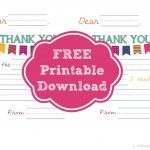 Printable Thank You Notes That Will Make Your Kids Feel Like Rockstars   Free Printable Thank You Notes