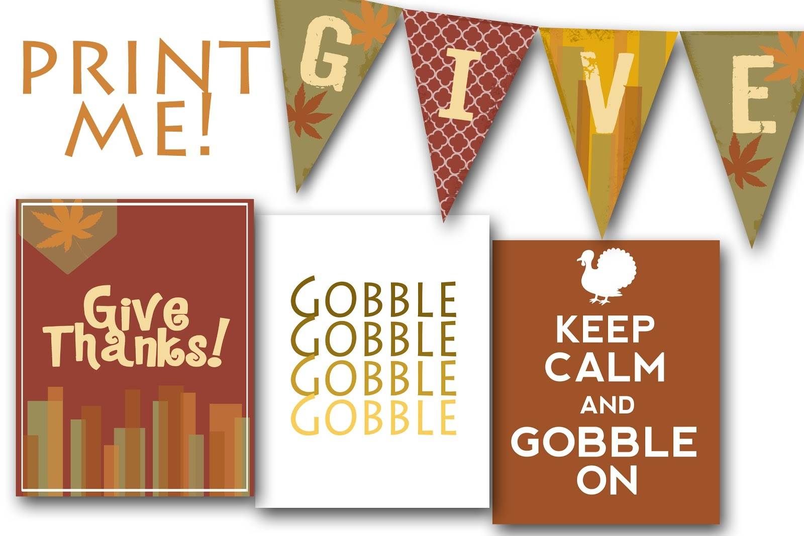 Printable Thanksgiving Banners – Happy Easter & Thanksgiving 2018 - Free Printable Happy Thanksgiving Banner
