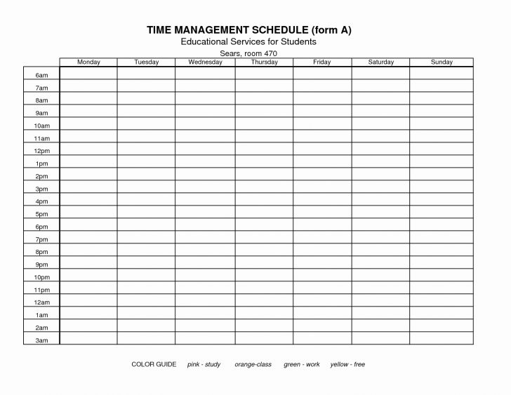 Time Management Forms Free Printable