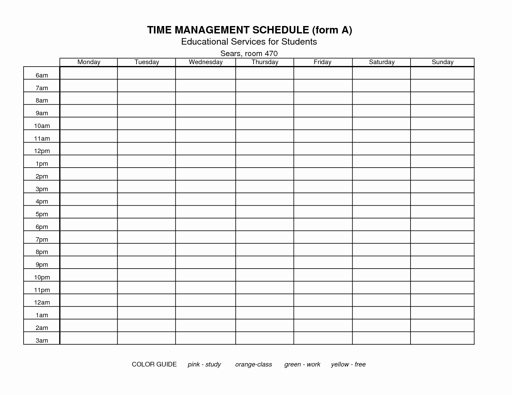Printable Time Management Sheets – Alltheshopsonline.co.uk - Time Management Forms Free Printable