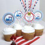Printable Train Cupcake Topper Train Birthday Party Train   Etsy – Free Printable Train Cupcake Toppers