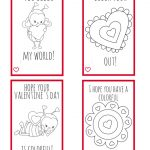 Printable Valentine Cards For Kids  Perfect For Kids To Make For   Free Printable Color Your Own Cards