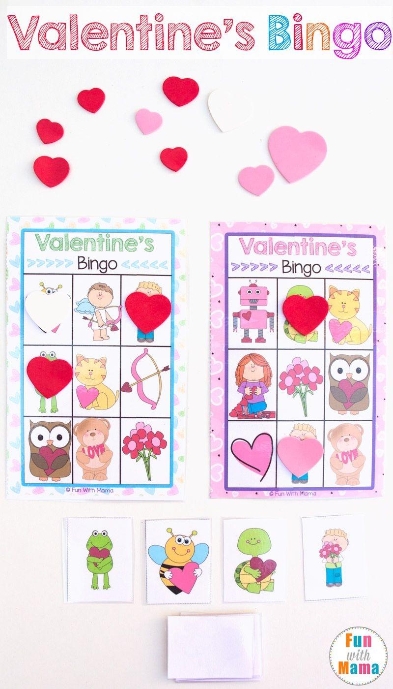 Printable Valentine's Bingo Game | Valentines Fun Zz | Valentine - Free Printable Valentines Bingo