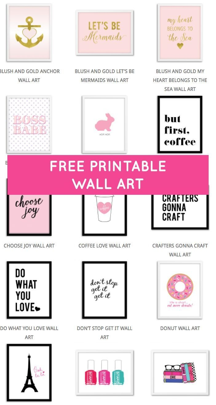 Printable Wall Art - Print Wall Decor And Poster Prints For Your - Free Printable Wall Art Quotes